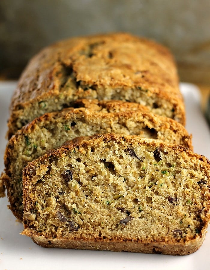 Classic Zucchini Bread filled with pecans (and sometimes chocolate chips!) is a simple but delicious way to use up your summer zucchini crop. | Persnickety Plates