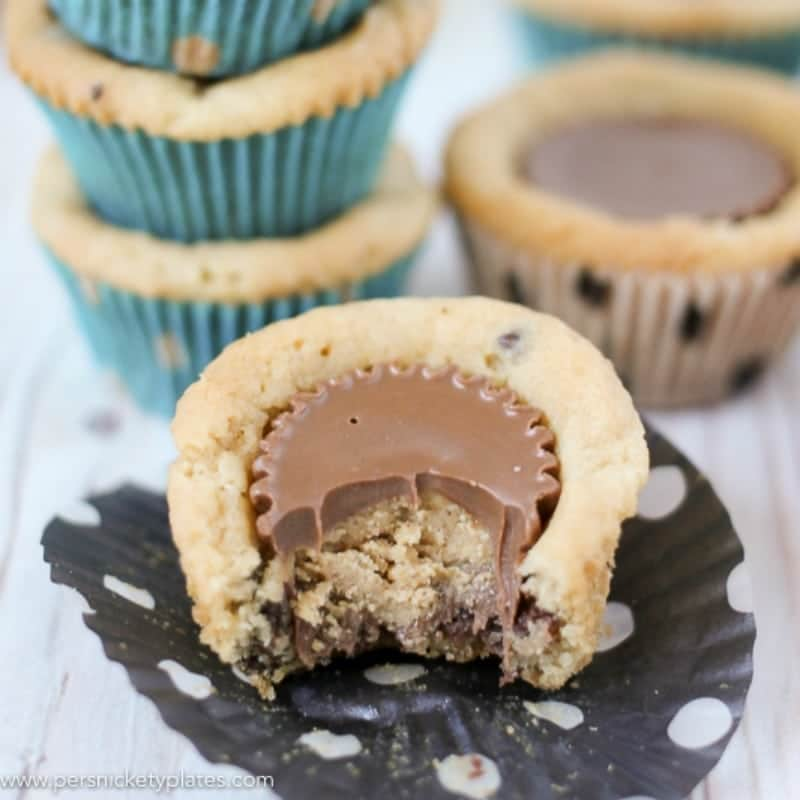 Chocolate Chip Peanut Butter Cookie Cups Persnickety Plates
