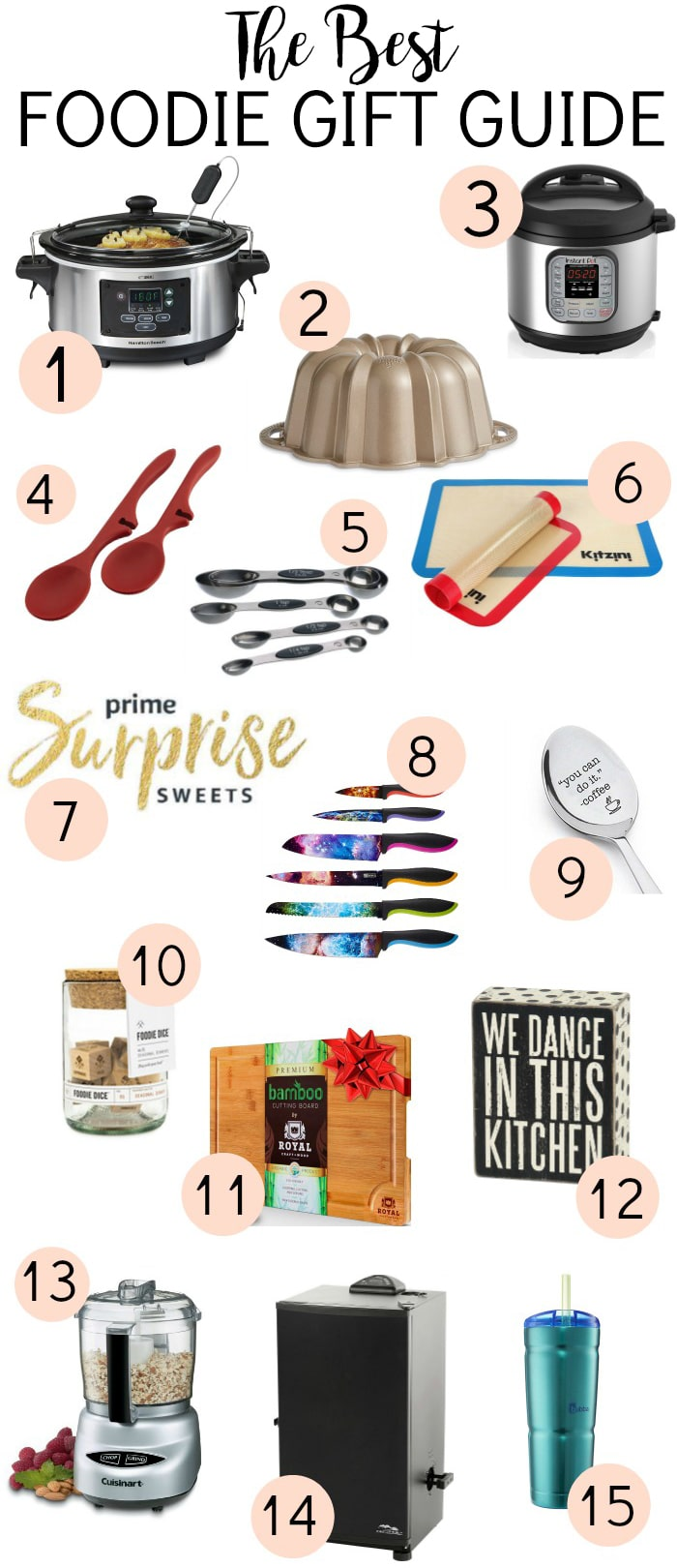 The Best Foodie Gift Guide will make it easy to find the perfect present for the food and kitchen gadget lovers in your life! | www.persnicketyplates.com