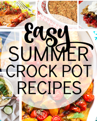 collage of easy summer crock pot recipes