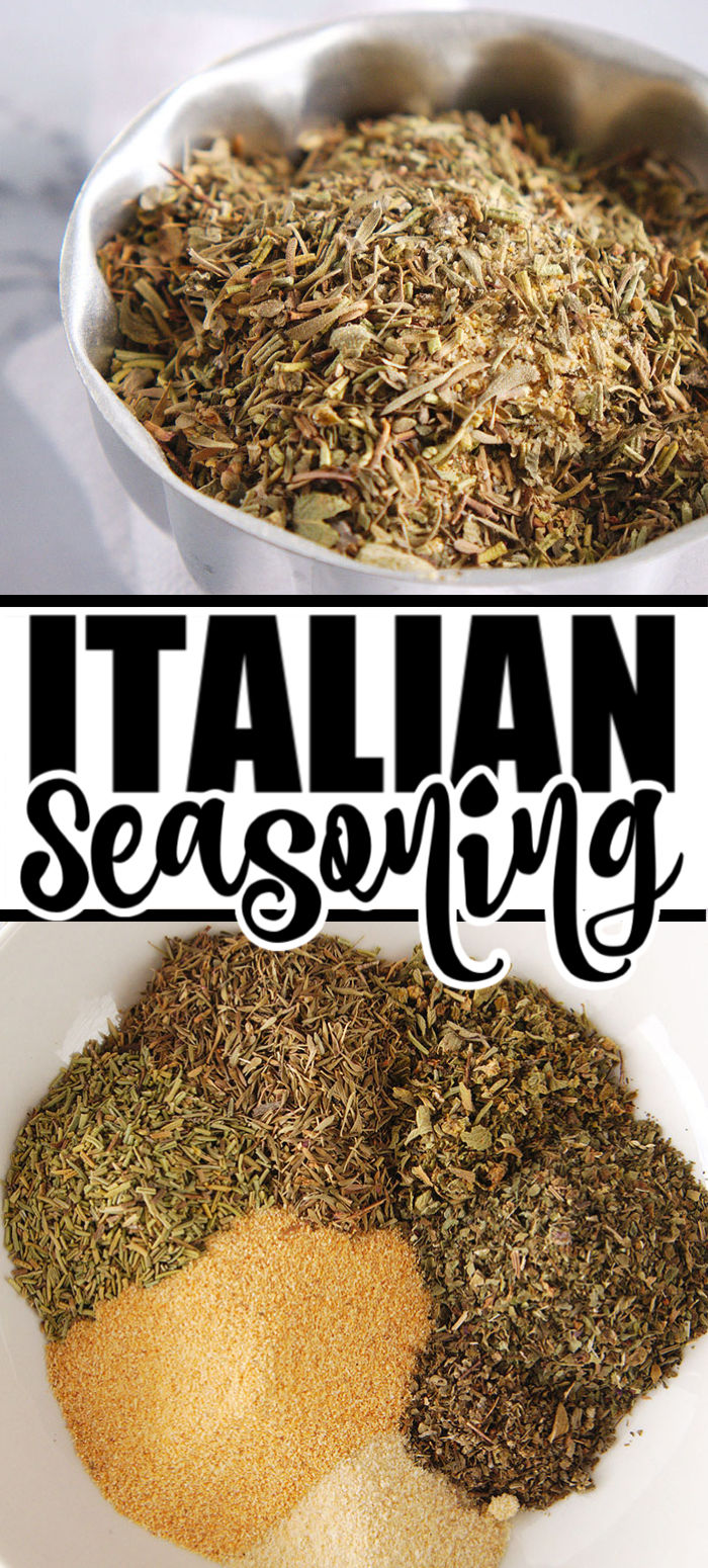 Do you know how easy it is to make homemade Italian seasoning? You'll never buy the pre-made mix again after you realize how simple it is to make yourself. | www.persnicketyplates.com #seasoning #italian #homemade #spices #easyrecipe