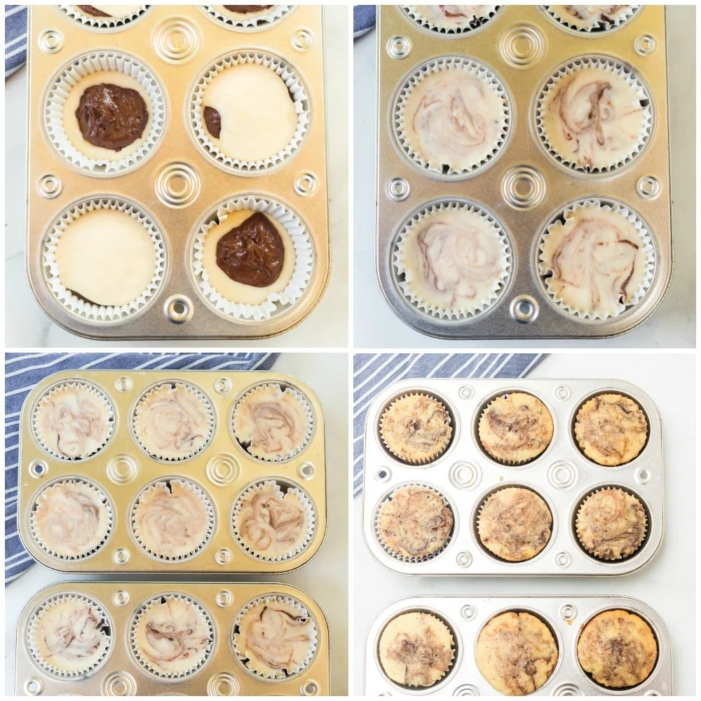 cupcake batter in muffin tins