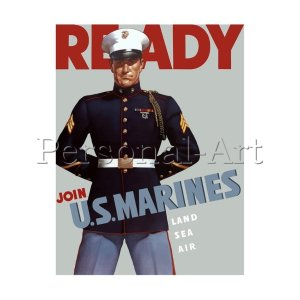 READY Join US MARINE Poster