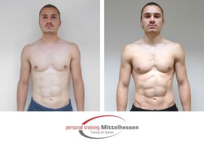 Körperfett reduzieren: Ergebnis von Victor T