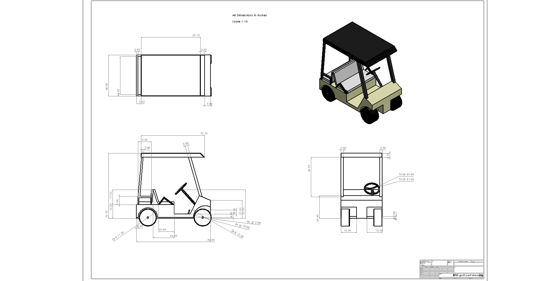 Ez Golf Carts Dimensions
