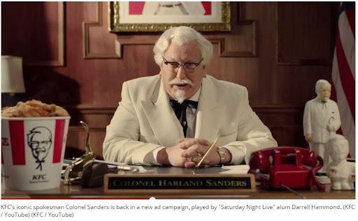 Brand Humor: KFC spokesman Col. Sanders is back!