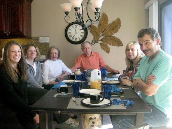 Enjoying my family over a home cooked meal - priceless!