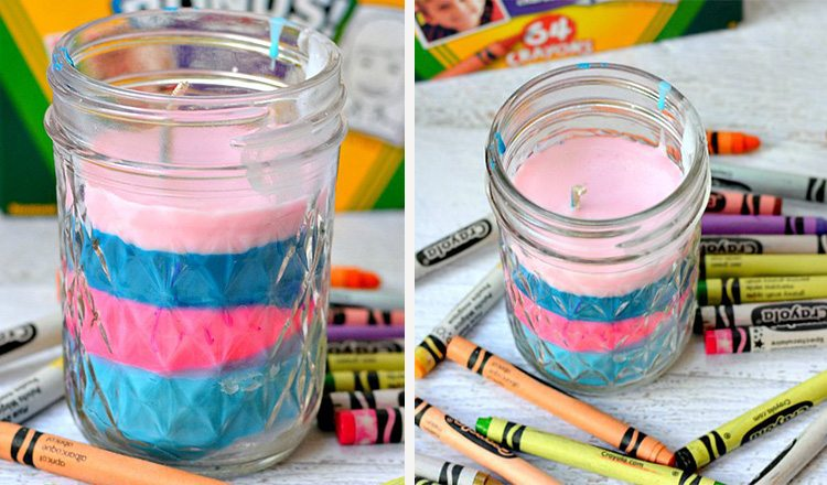 candles made from crayons