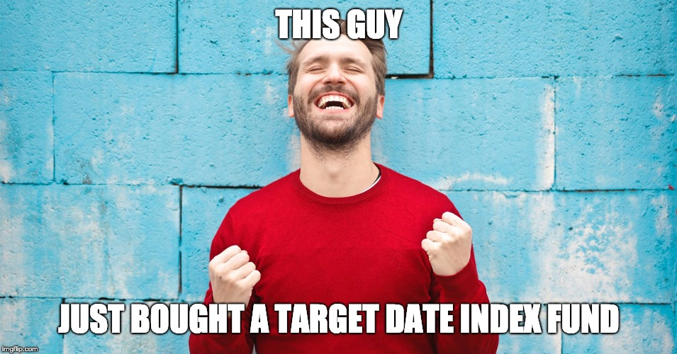 Guy buying target date index fund