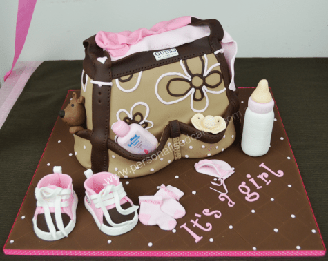 3D Sculpted Baby Diaper Bag Cake