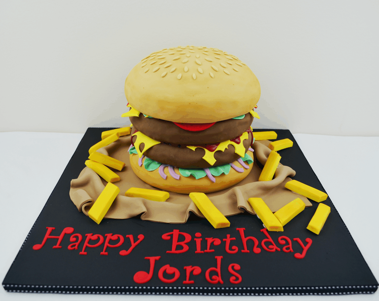 Fantastic Burger Cake Hamburger Cake Birthday Cake Funny Birthday Cards Online Inifofree Goldxyz