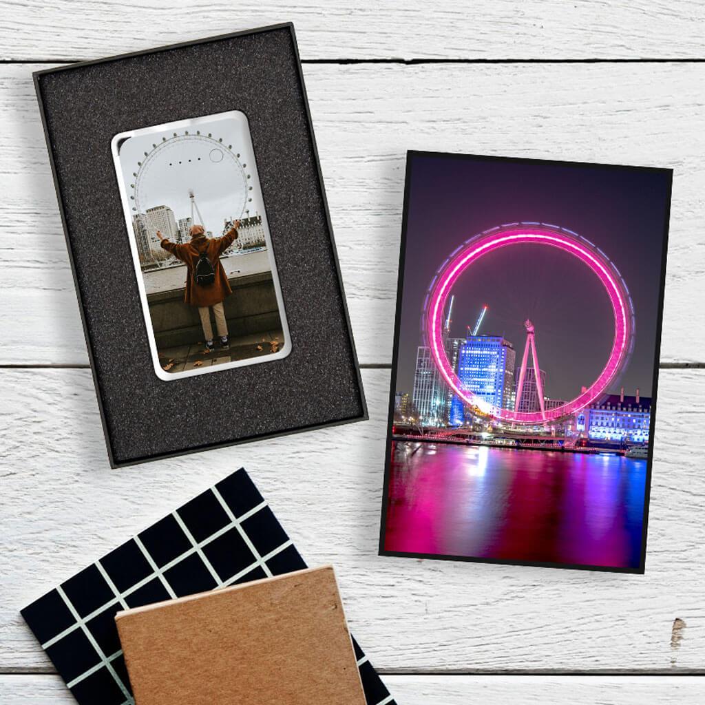 Flat Powerbank Gift Box - London Eye