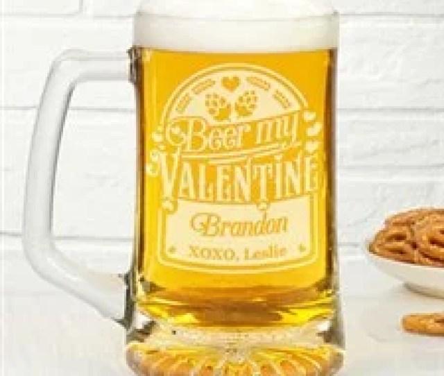 Personalized Beer Mug Beer My Valentine