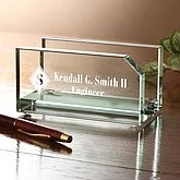 Personalized Executive Glass Business Card Holder - 2370