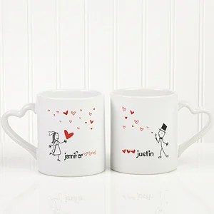 Personalized Couples Coffee Mug Set Blown Away By Love