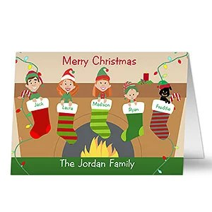 Personalized Christmas Stocking Family Character Christmas