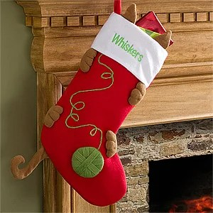 Personalized Cat Christmas Stockings Love My Kitty