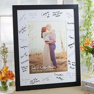 Personalized Wedding Guest Book Signature Frame