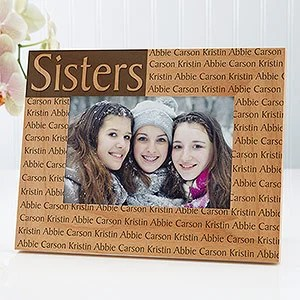 Personalized 4x6 Picture Frame With Custom Title Amp Names For Her