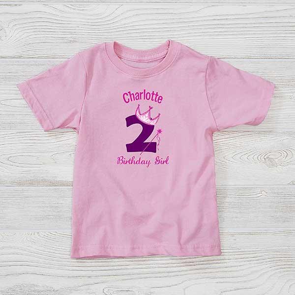 Personalized Girls Princess Birthday Toddler T Shirt Birthday Gifts