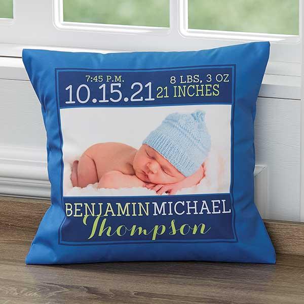 personalized keepsake baby boy pillow darling baby boy 14