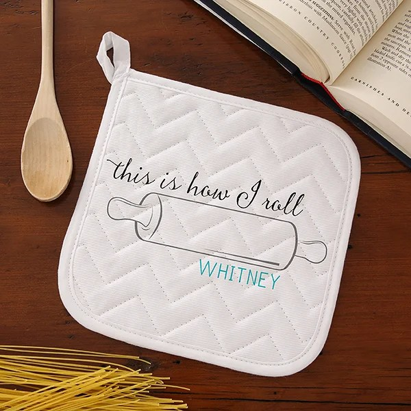 Kitchen Puns Personalized Potholder