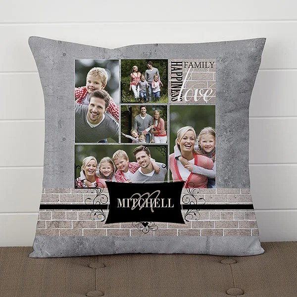 personalized photo throw pillow family memories 14