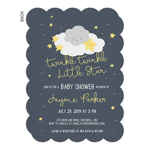 Le Baby Shower Invitation