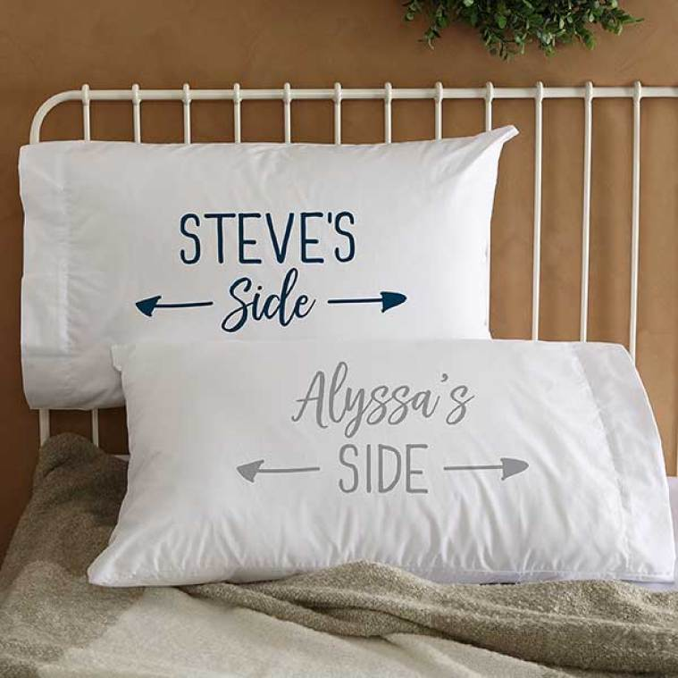 His Side & Her Side Personalized Pillowcase Set - 23824