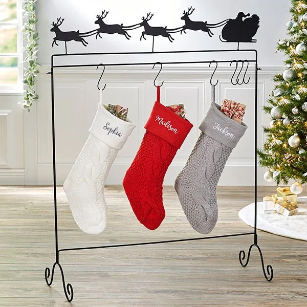 Santa Sleigh Stocking Holder Floor Stand