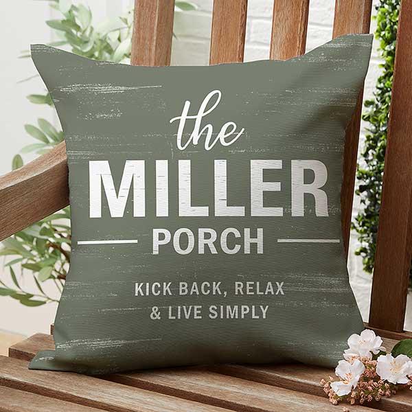 farmhouse family personalized 16 outdoor throw pillow