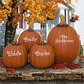 Decorative Personalized Fall Pumpkins