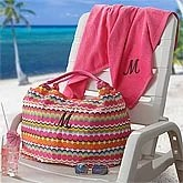 Personalized Beach Bag and Towel - Dream Dots - 8271