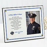Police Officer's Prayer Photo Plaque