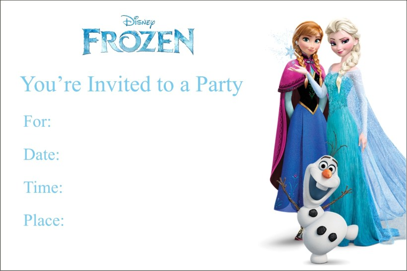 Free Printable Frozen Birthday Cards Cardss