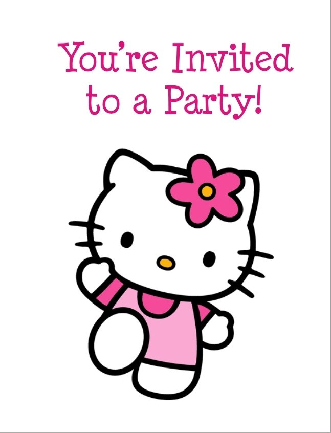 O Kitty Party Invitations Printable Fitbo Wpart Co