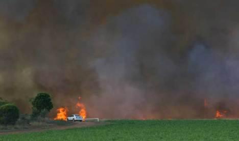 Bush Fire near Cairns