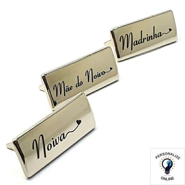 Etiqueta noiva e madrinhas 3.5x1.5 cm kit com 13 unidades prata