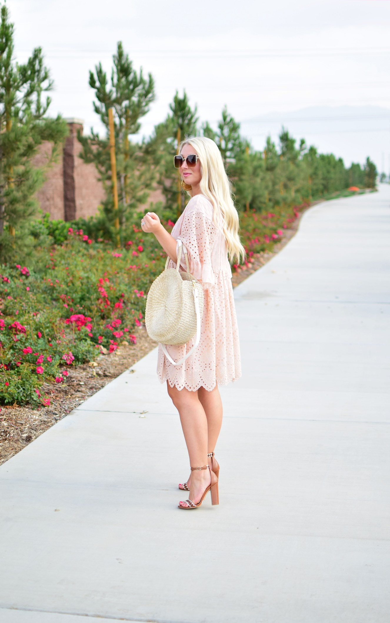 Connecticut life and style blogger, Pinteresting Plans shares her favorite Summer fashion trends 2017 today.  A round-up of the best of the best. summer fashion trends 2017 - round straw tote bag