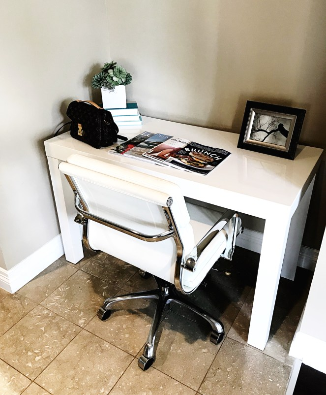 Astoria Central Park West, chair, desk, Irvine, Orange County, Astoria, Personally Styled, Styled
