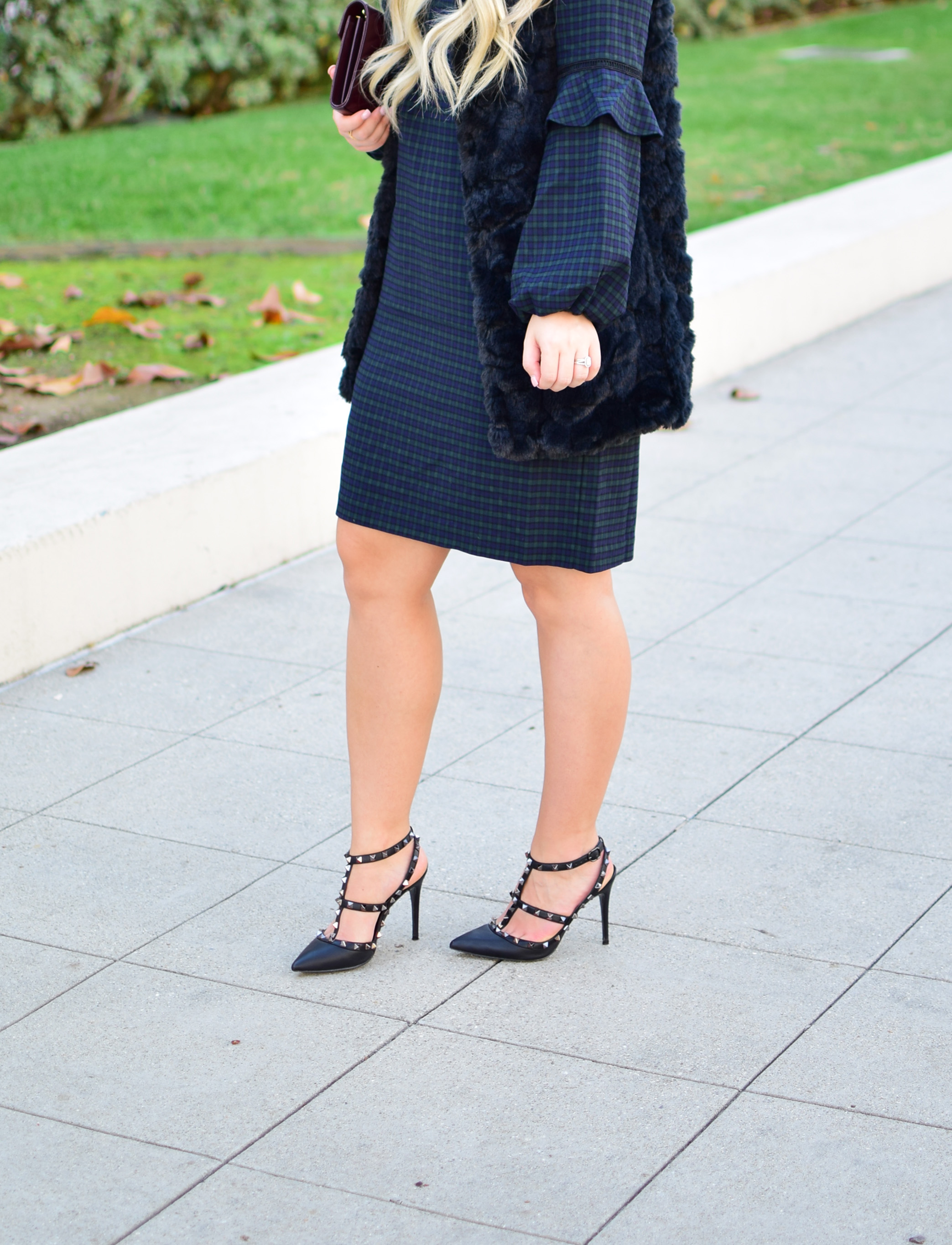 LOFT Green Plaid Dress for Work & Play - Personally Styled Blog