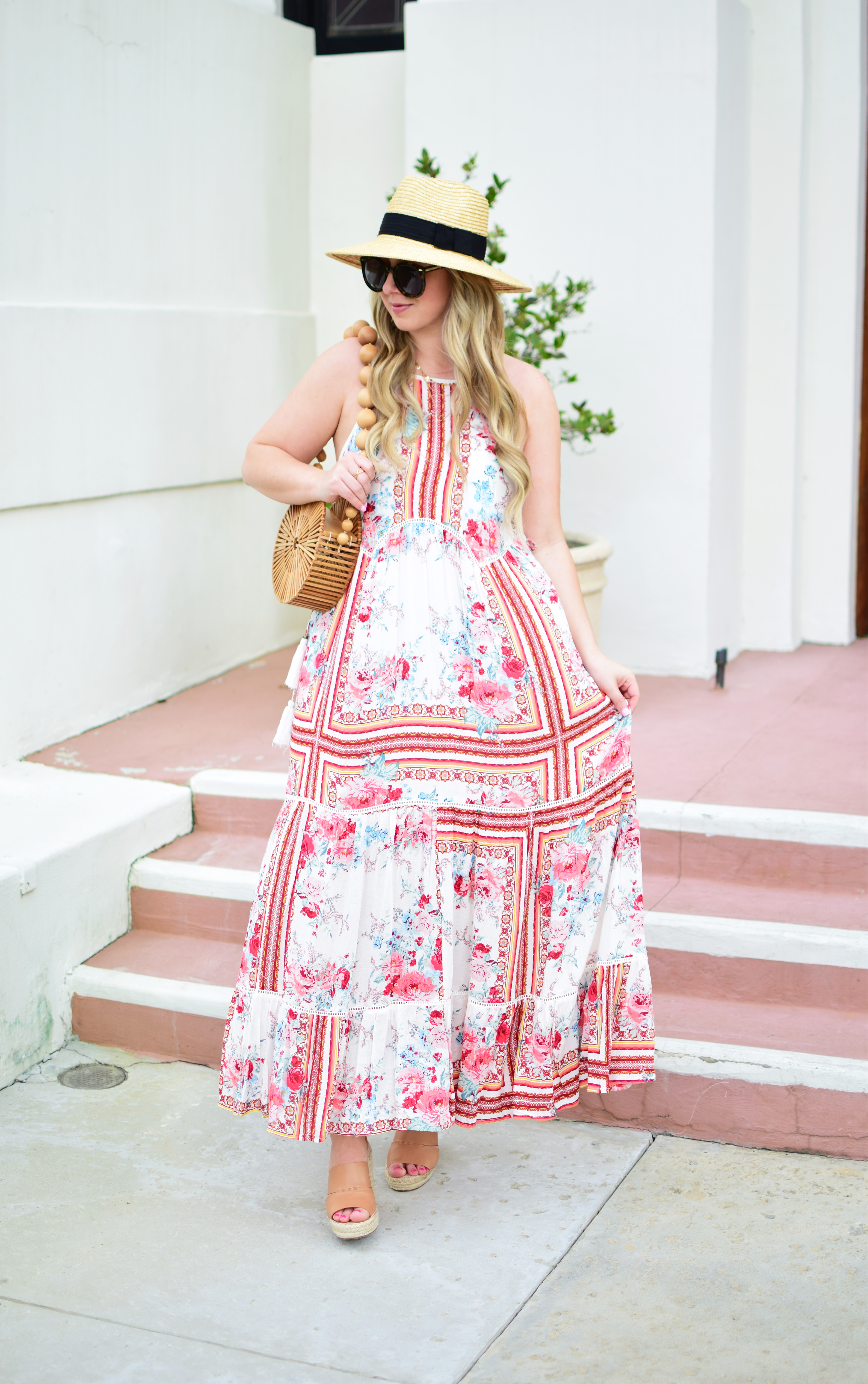 8cccf108366 Pink Mediterranean Maxi Dress + how to look for quality pieces when  shopping!