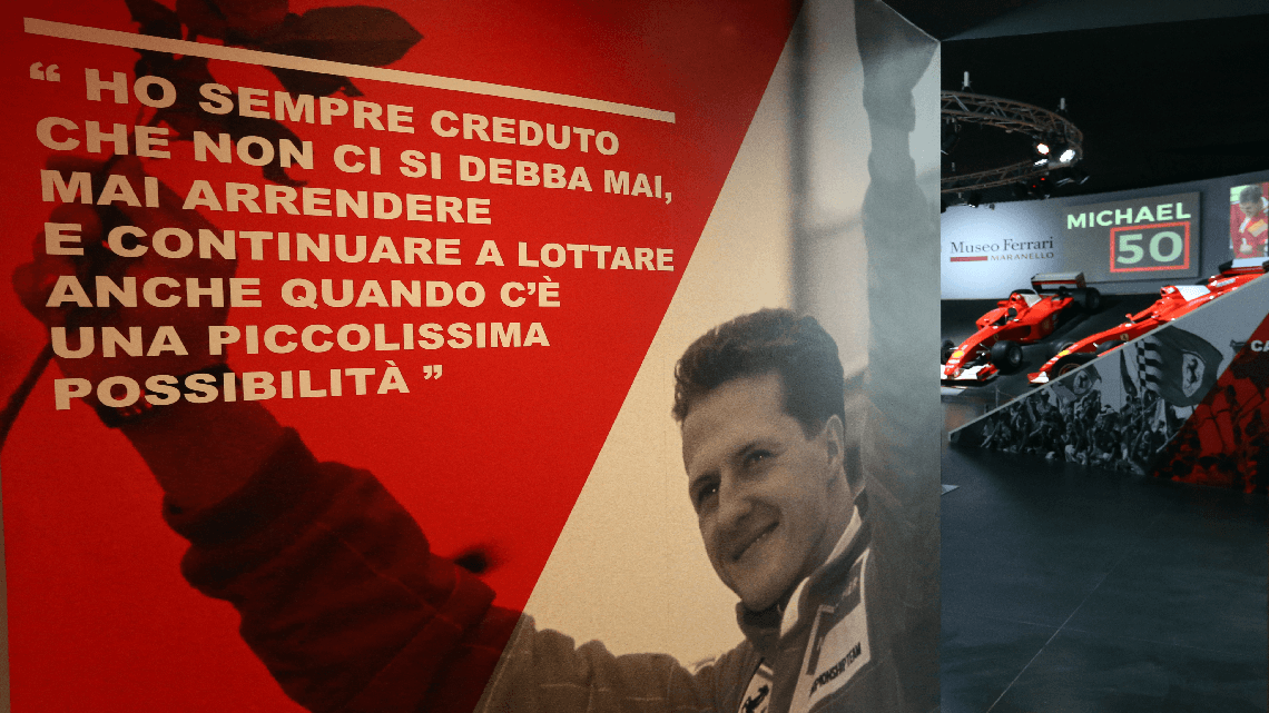 """MICHAEL 50"": la mostra dedicata a Schumacher. GUARDA IL BELLISSIMO VIDEO"