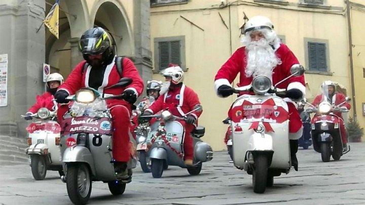 Babbo Natale in Vespa: un raduno all'insegna della beneficenza