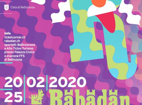 Il Rabadan di Bellinzona da sabato 20 febbraio a martedì 25 febbraio