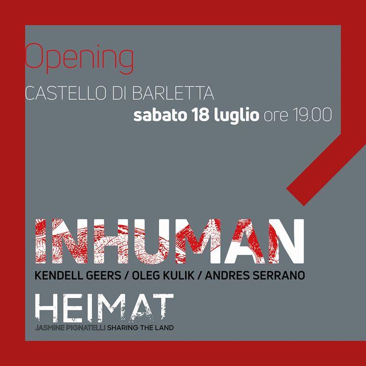 Inhuman al Castello di Barletta - Articolo di Paola Montonati