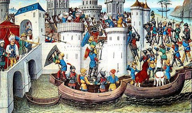 La crociata dei veneziani a Costantinopoli