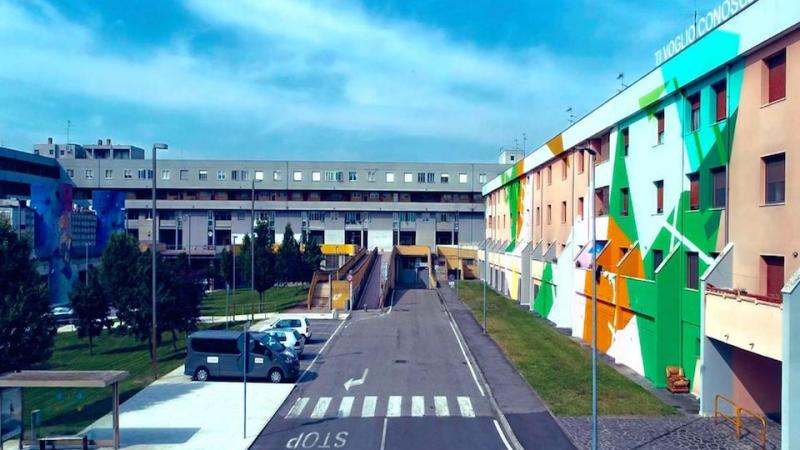 Lunetta Cultural Camp: a Mantova le botteghe chiuse diventano atelier d'artista