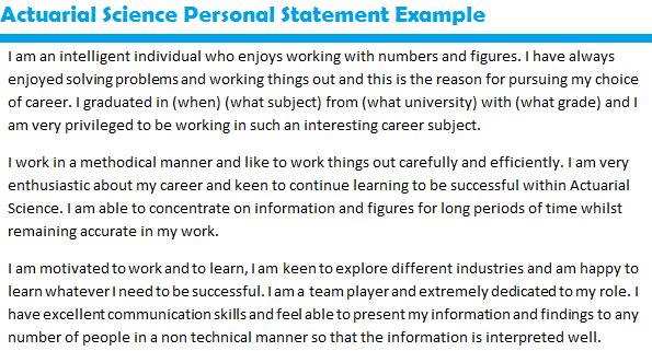 Job Lication Personal Statement