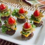 Mini Bunless Cheeseburger Bites